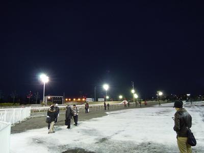 日が沈んだ帯広競馬場