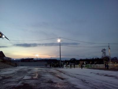 薄暮の帯広競馬場