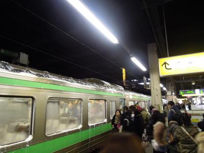 札幌からの列車