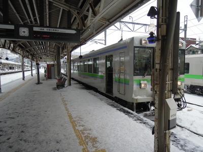 小樽からの列車