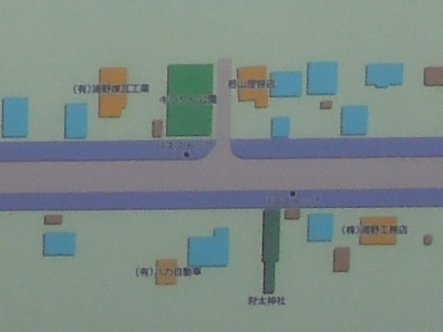 地図の「キラりん公園」表示