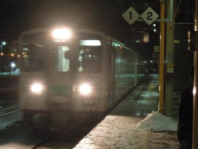 東室蘭からの列車