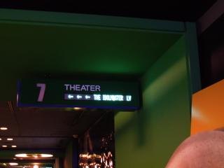 映画館の演目表示