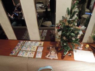 クリスマスツリーと雪歩グッズ