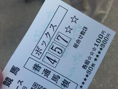 第4レースの購入馬券