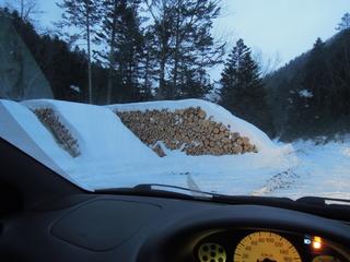 切り出された木材