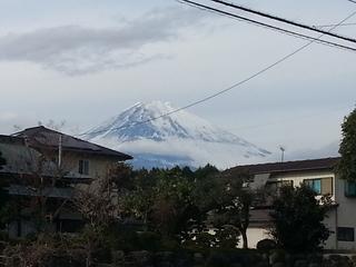 神山バス停付近から見る富士山