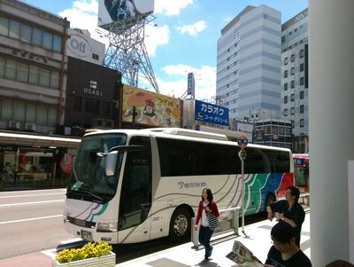 高速バスで金沢到着